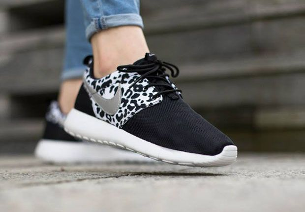 nike roshe run gs print black\/anthracite\/pure