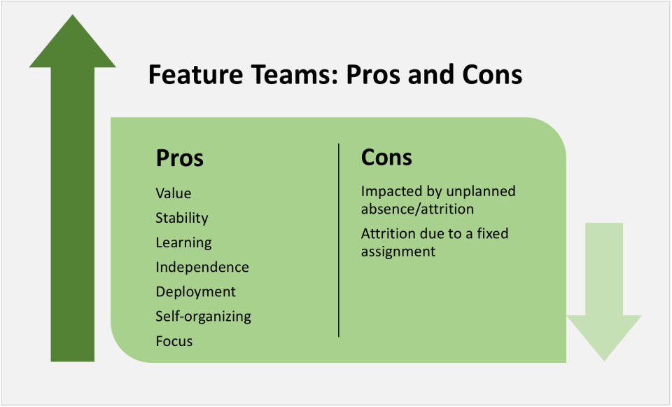 Feature teams pros and cons | Agile