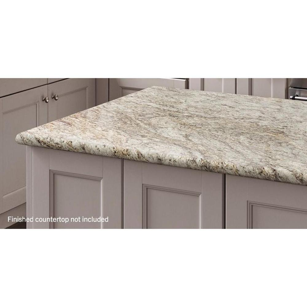 Hampton Bay Valencia 48 In Laminate Countertop In Typhoon Ice 495252v4 At The Home Depot Mobil Kitchen Countertops Laminate Laminate Countertops Countertops