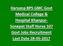 Haryana Bps Gmc Govt Medical College Hospital Khanpur Sonepat