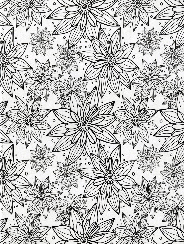 Color art floral wonders - Floral Wonders Color Art For Everyone Adult Coloring Book