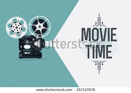 Cool Retro Movie Projector Vector Detailed Poster Leaflet Or Banner Template With Sample Text