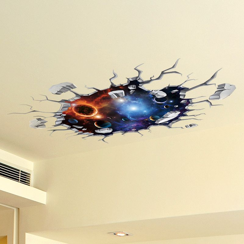 SHIJUEHEZI] Universe Celestial Body 3D Ceiling Stickers Vinyl Wall ...