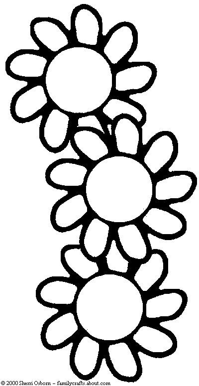 Free Colouring Pages Flowers Printable : Flowers coloring page free flower book work