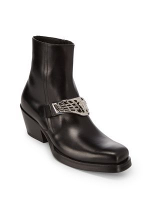 Versace Leather Ankle Boots cheap release dates choice online wTYmlH