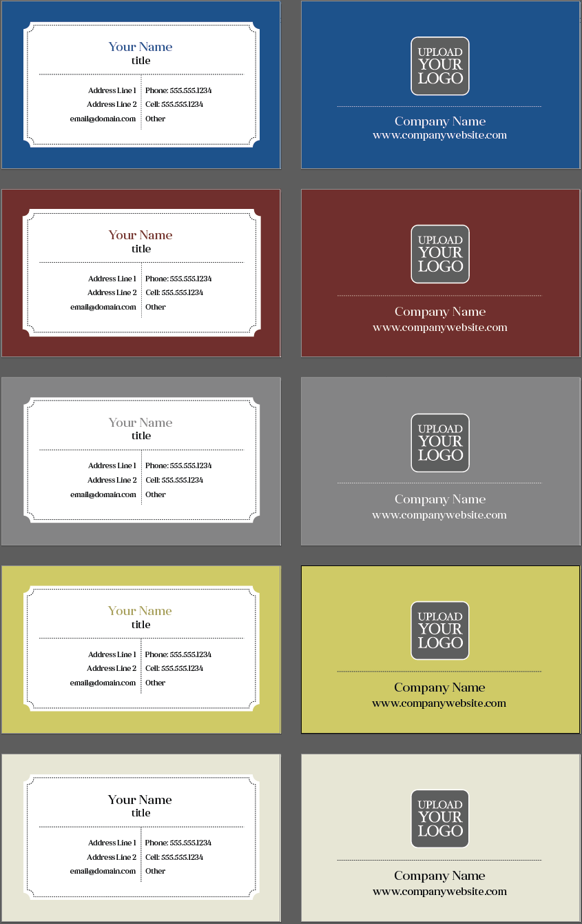 Classic Business Card Template Design | Design Tool Templates ...