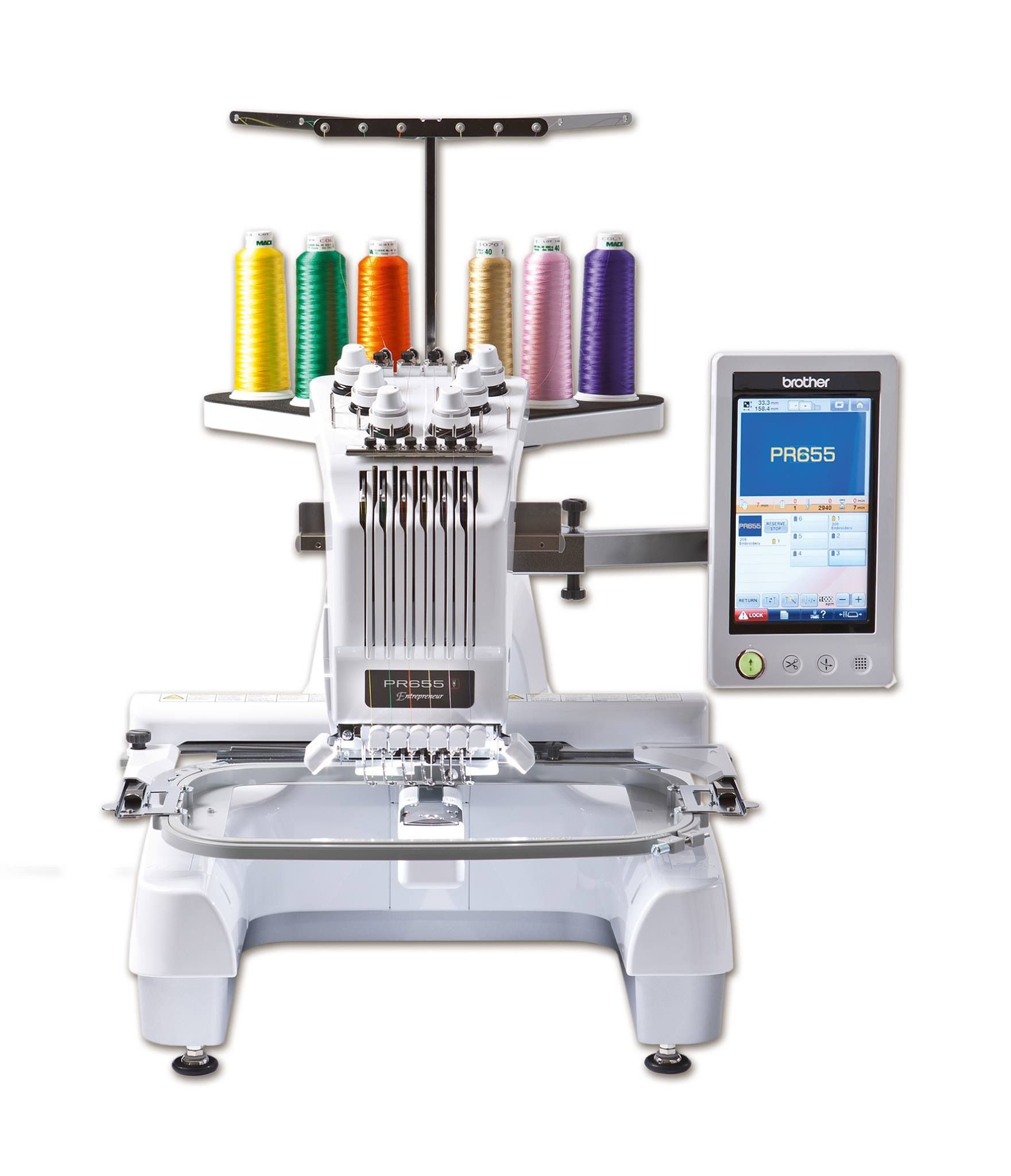 Brother PR655 Six Needle Embroidery Machine with free cap ...