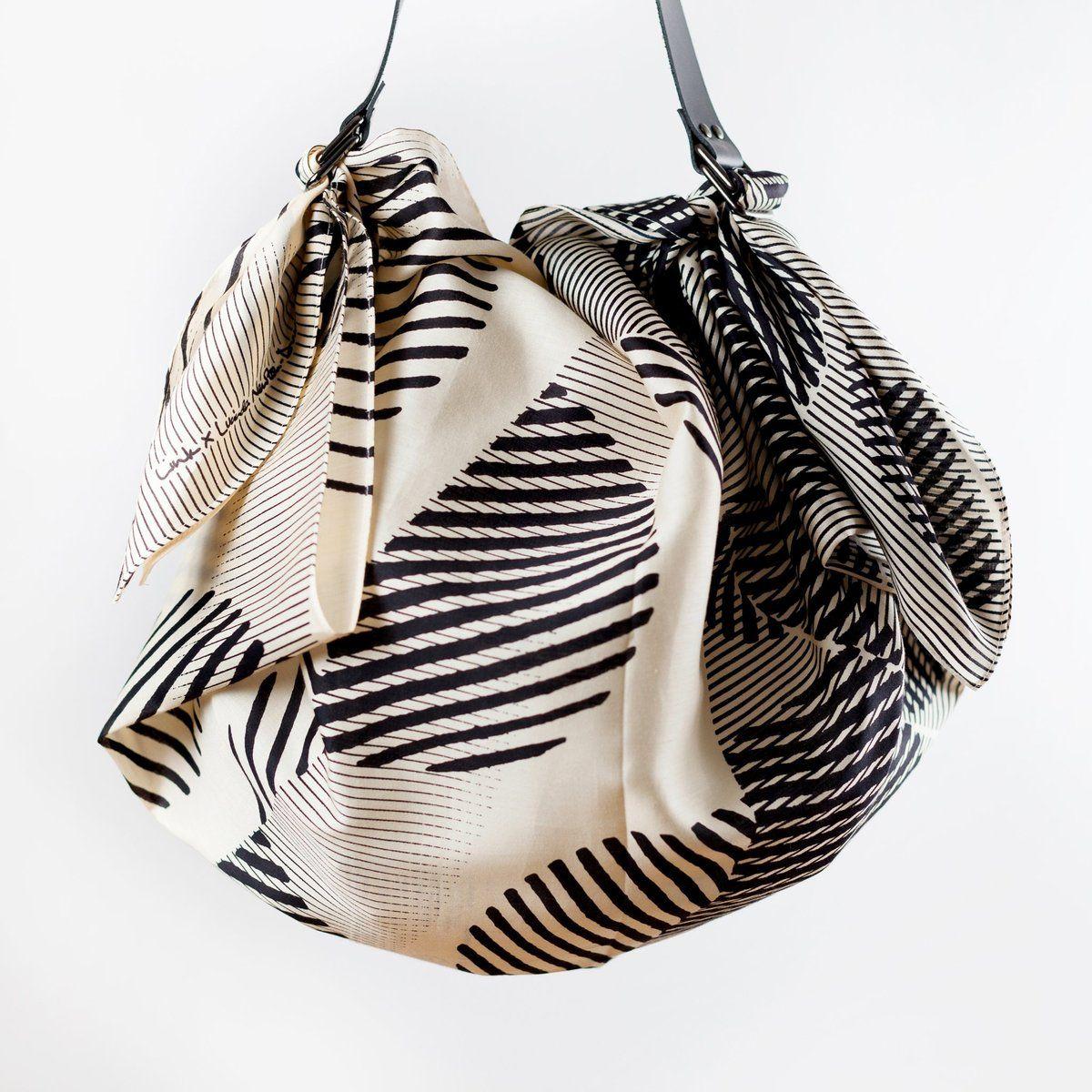 """""""Dots"""" Black Furoshiki Bag Set (With images) Black"""
