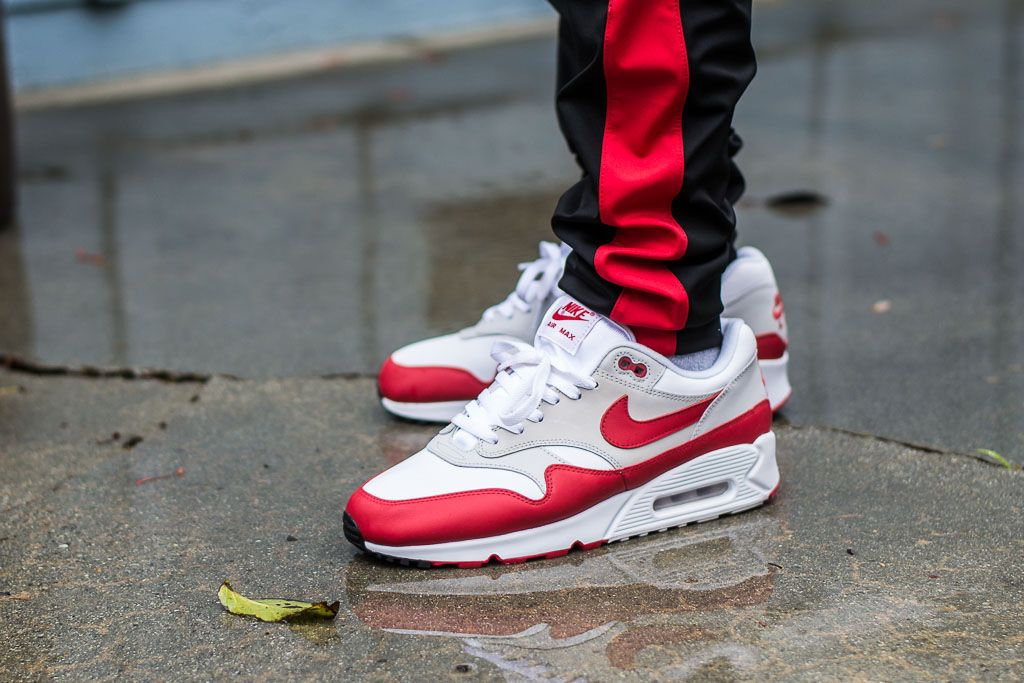 new list professional sale get new Nike Air Max 90/1 University Red On Feet Sneaker Review ...