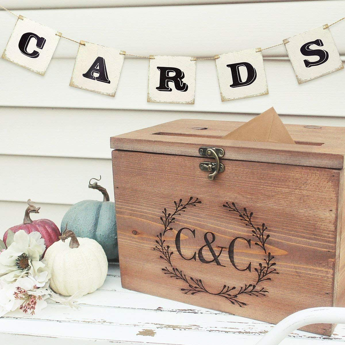 b732b6a2395b £2.99+Unomor CARDS Banner for Wedding Card Box