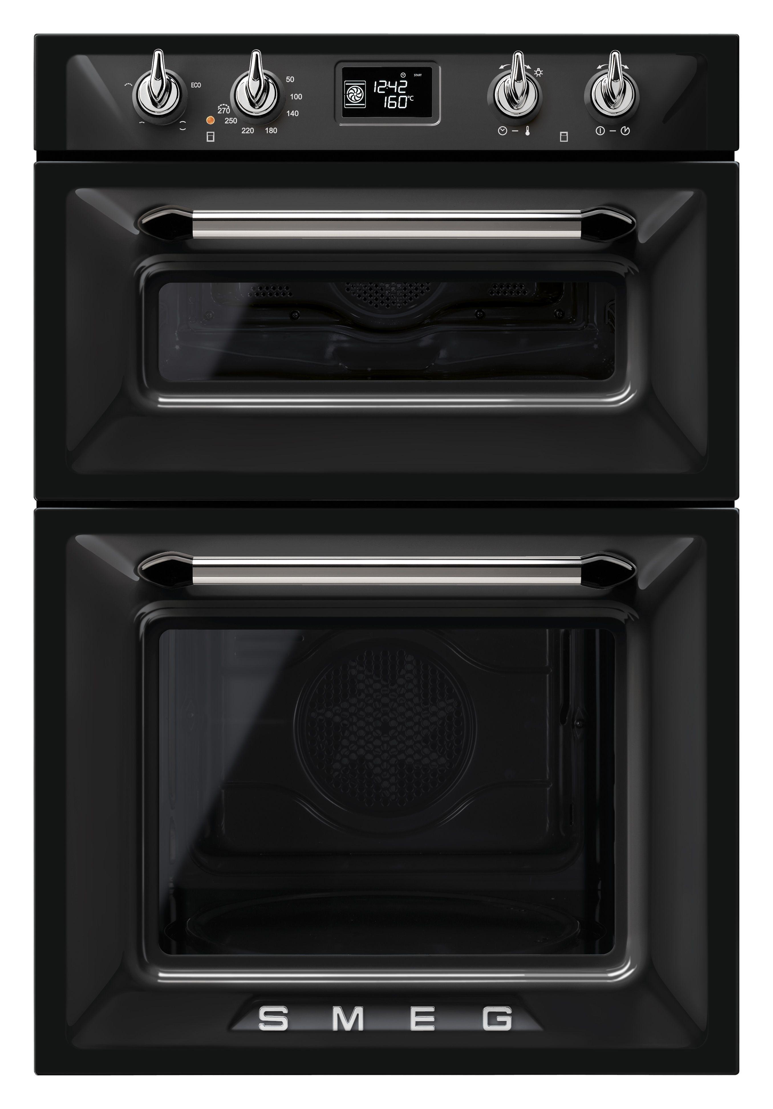 Black Smeg Victoria Double Oven Ktchn Pinterest