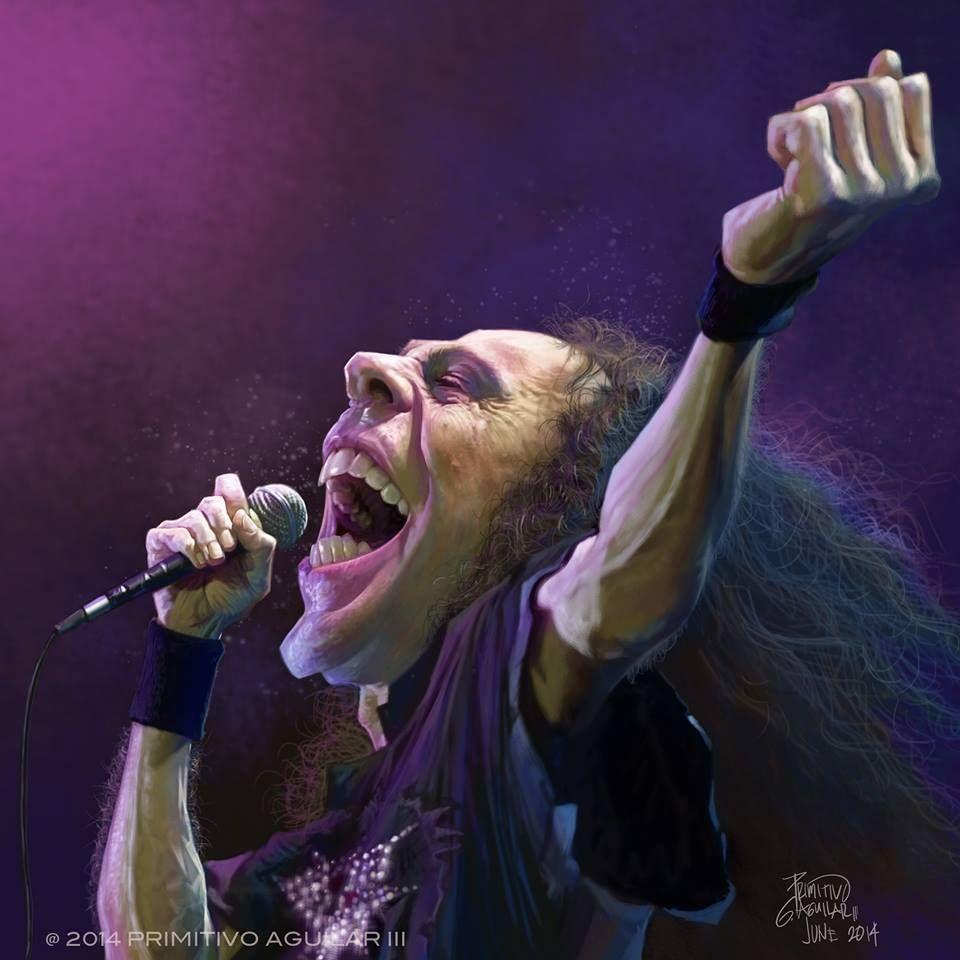 """Caricatura del músico y cantante Neoyorkino de la mítica banda de Rock """"The Ramones"""", Joe..."""