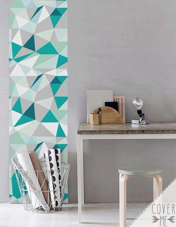 Kaleidoscope Wallpaper Simple Removable Wallpaper Etsy Geometric Wall Paint Wall Paint Patterns Wall Paint Designs