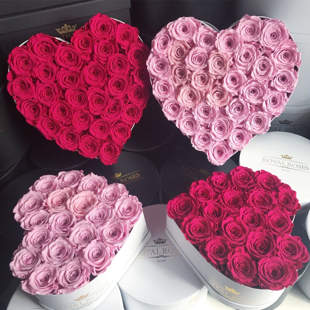 Real Long Lasting Roses Heart Shaped Box Lifetime Is Over 1 Year Heart Shape Box Money Bouquet Heart Shapes