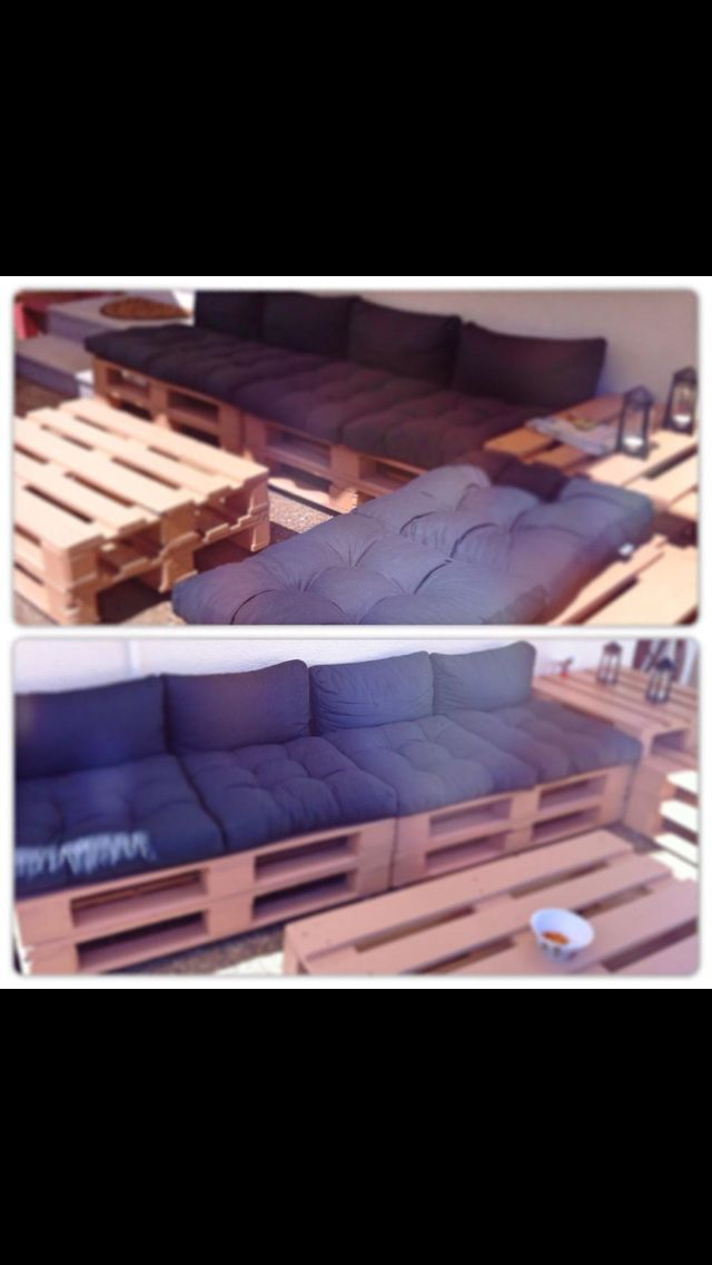 DIY garden decoration Bench Lounge Wood pallets Euro Paletten