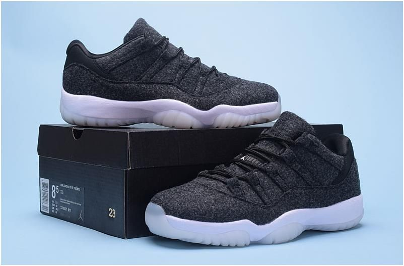 Nike Air Jordan XI 11 Low Wolf Grey White Men Shoes3