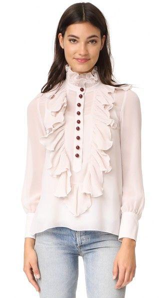 52c4142d92 SEE BY CHLOÉ High Neck Ruffle Blouse.  seebychloé  cloth  dress  top  shirt   sweater  skirt  beachwear  activewear