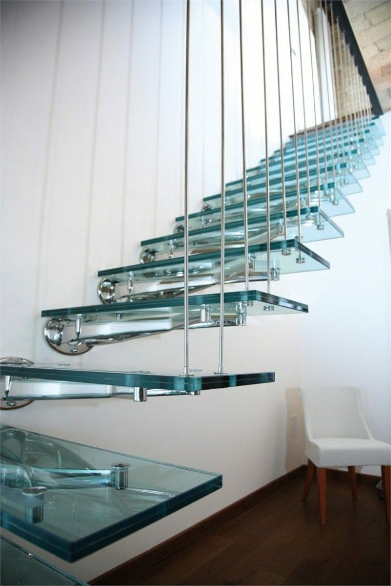 freitragende treppe 40 moderne designideen moderne treppen pinterest freitragende treppe. Black Bedroom Furniture Sets. Home Design Ideas