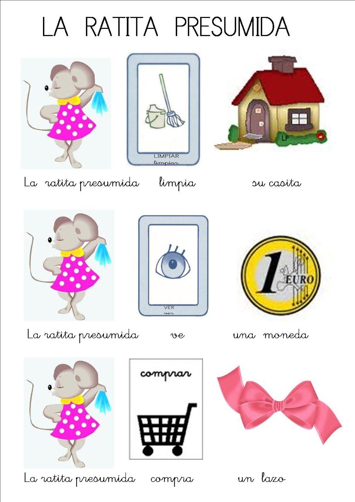 Cuento La Ratita Presumida En Pictogramas Cuentosinfantiles Biz Preschool Activities Elementary Spanish Spring Activities