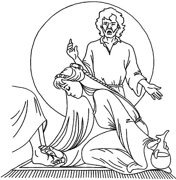 Explore Bible Coloring Pages Jesus And More Mary Anoints