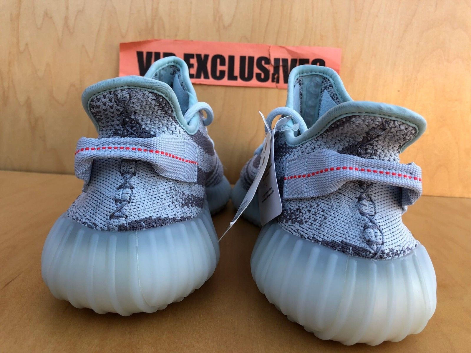 78e1d15c295b6 Adidas Yeezy Boost 350 V2 Blue Tint Grey Red B37571 SPLY 100% AUTHENTIC