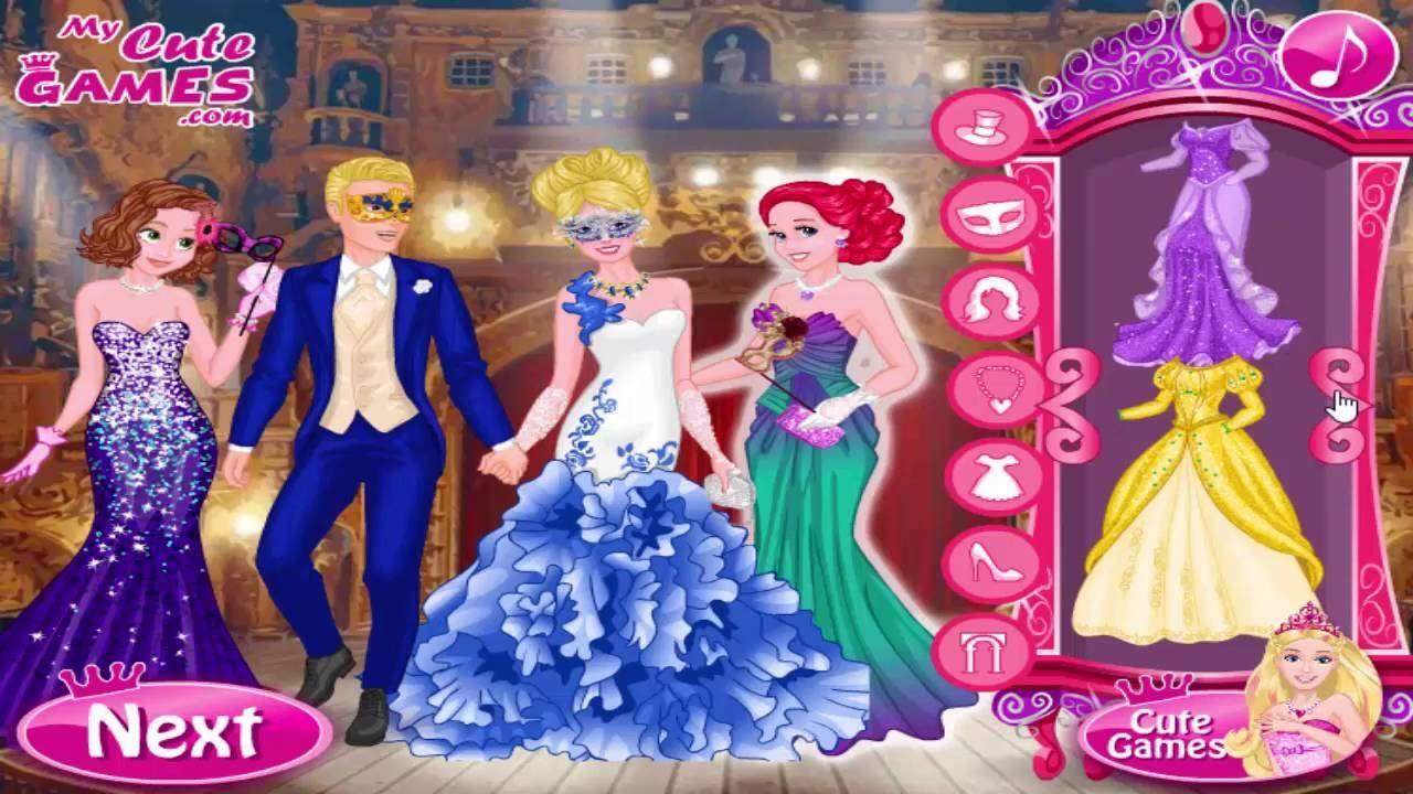 Disney Princess and Barbie Dress up games: Royal Masquerade Ball ...