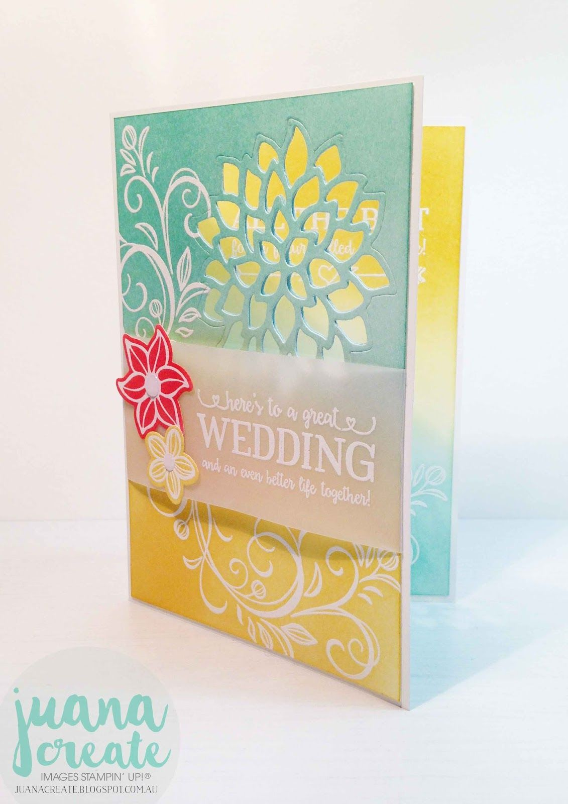 Stamping Ideas For Card Making Part - 19: Juana Ambida | Falling Flowers U0026 Better Together Wedding Card | #CTC001u2026
