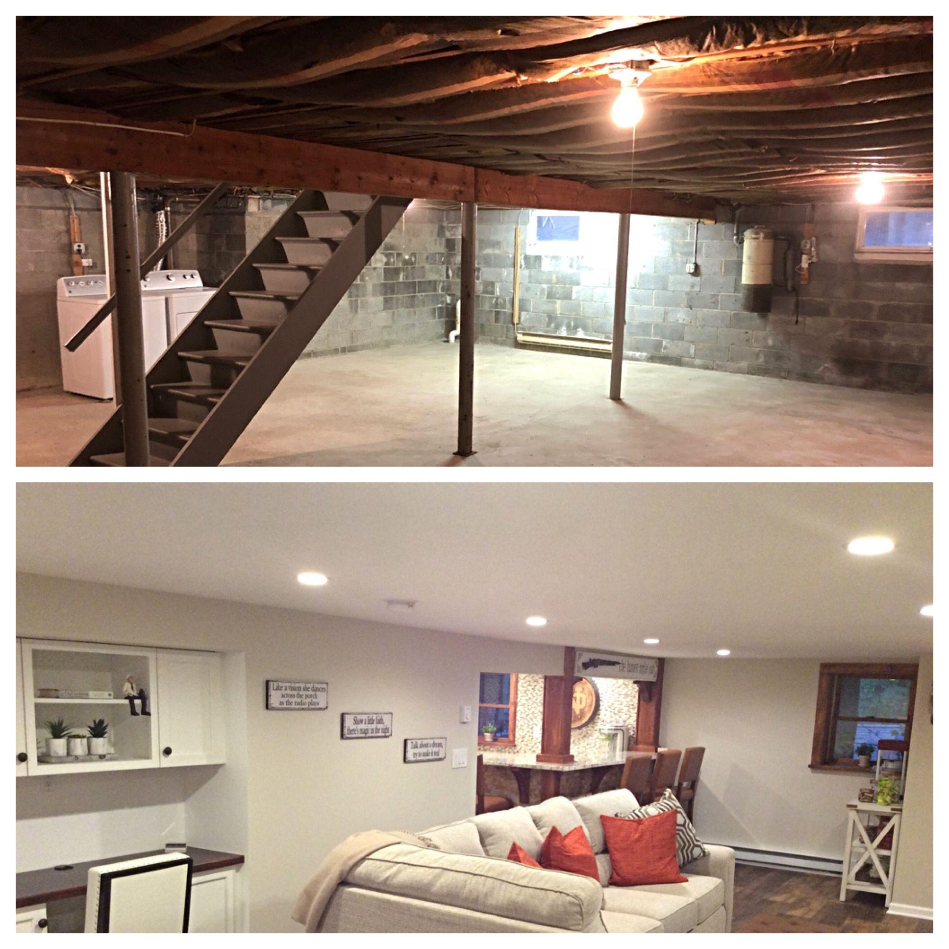 Low ceiling basement renovation Low ceiling basement