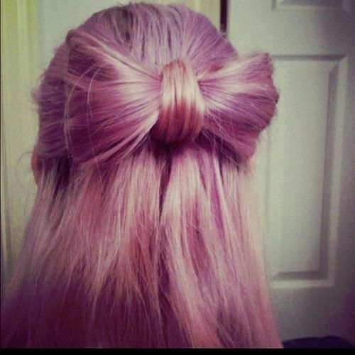 pastel hair bow | TREND 2013  #HAIRSTYLES AND ADVICE VISIT  WWW.UKHAIRDRESSERS.COM