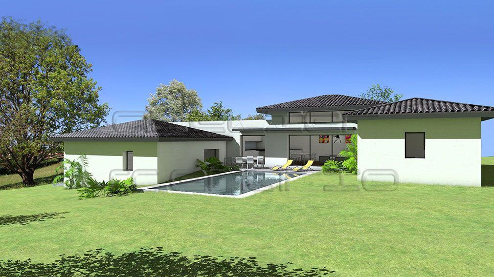 Plan Maison Architecte - Maison contemporaine sur terrain en légère