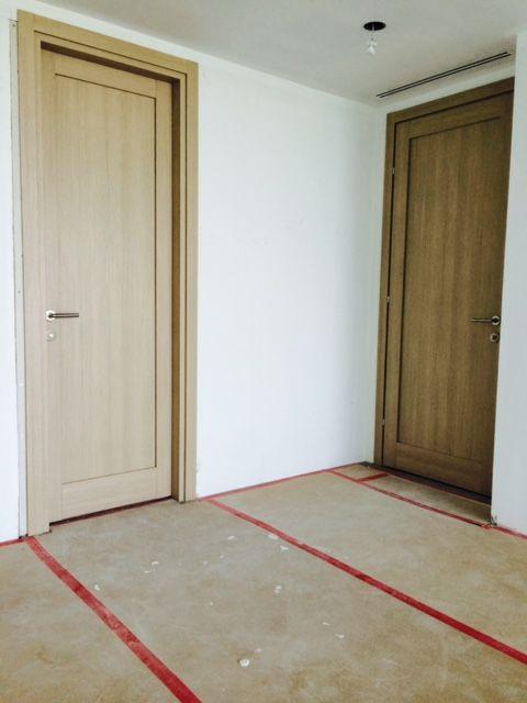 Doors & Stately Side-by-Side Modern Doors in Light Oak Finish #italdoors ...