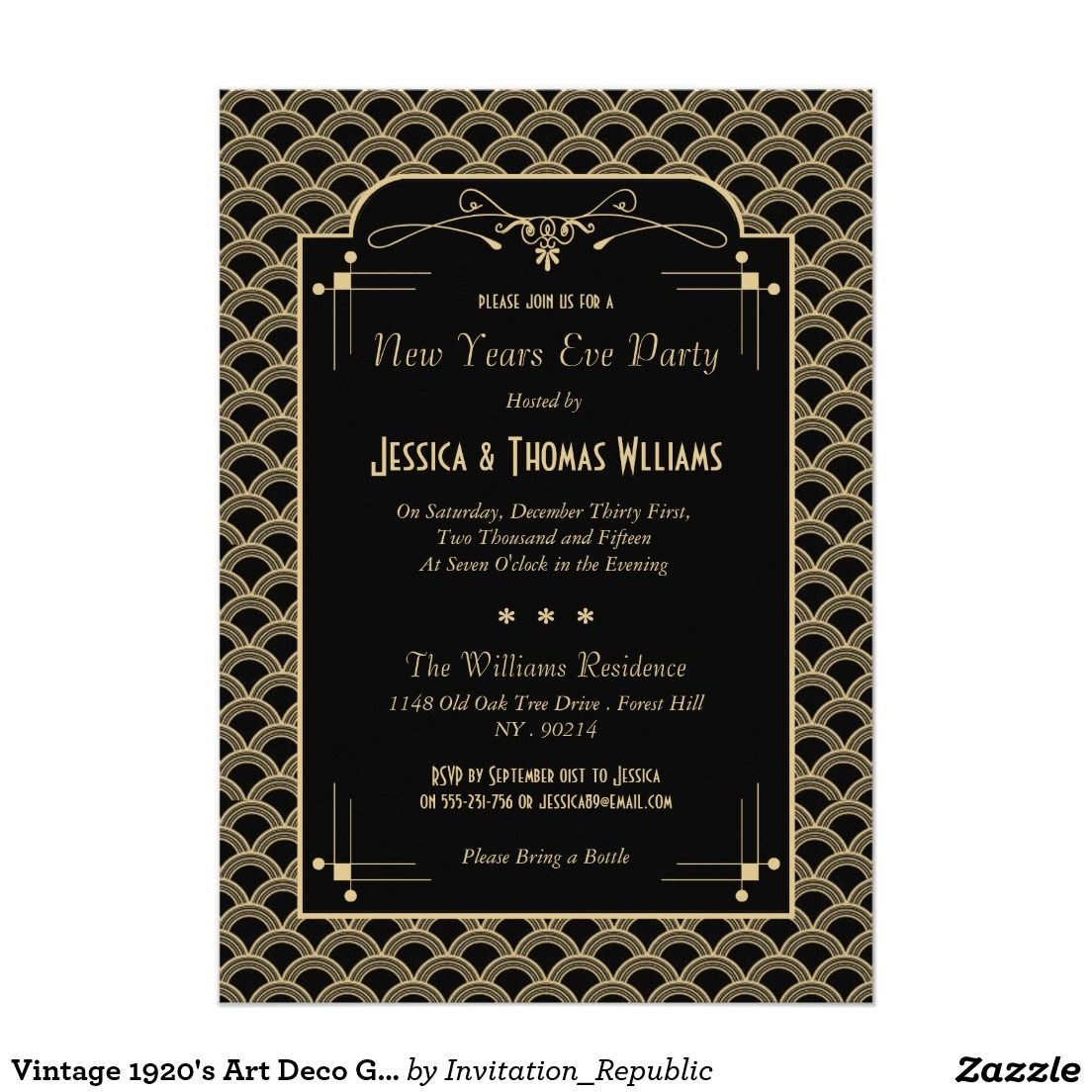 Vintage 1920s art deco gatsby new years eve party card zazzle vintage 1920s art deco gatsby new years eve party card zazzle stopboris Choice Image
