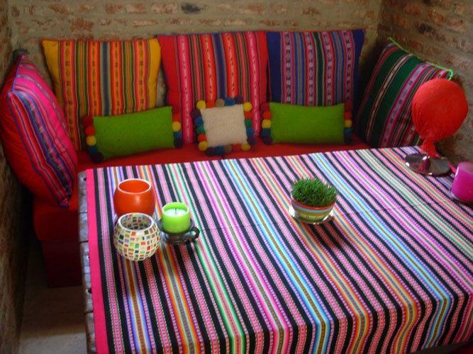 Aguayos color pinterest jard n de invierno - Forrar sillas con tela ...