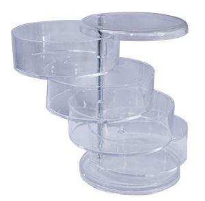 Organizador de cosmeticos de acrilico transparente  11.7x17.6cm
