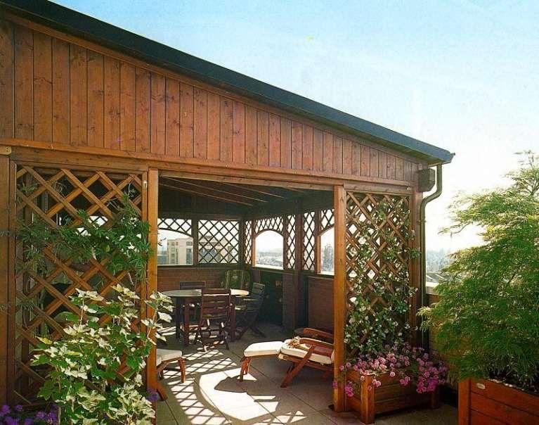 Verande in legno - Veranda in legno per terrazzo