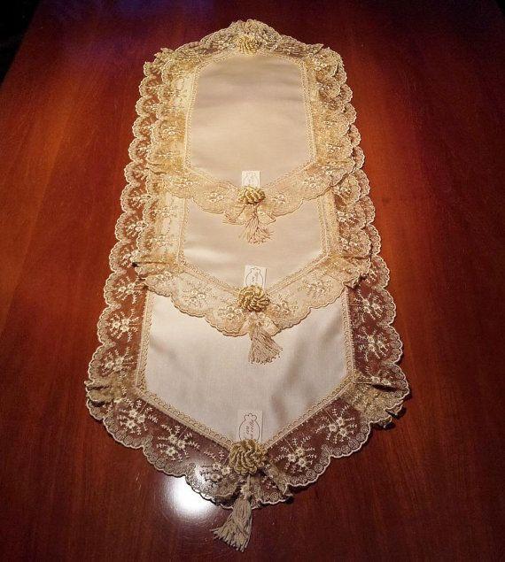 Tris doilies 3 pz lace tray cloths deckchen by ceraunavoltaitaly progetti da provare - Tris tappeti camera da letto ...