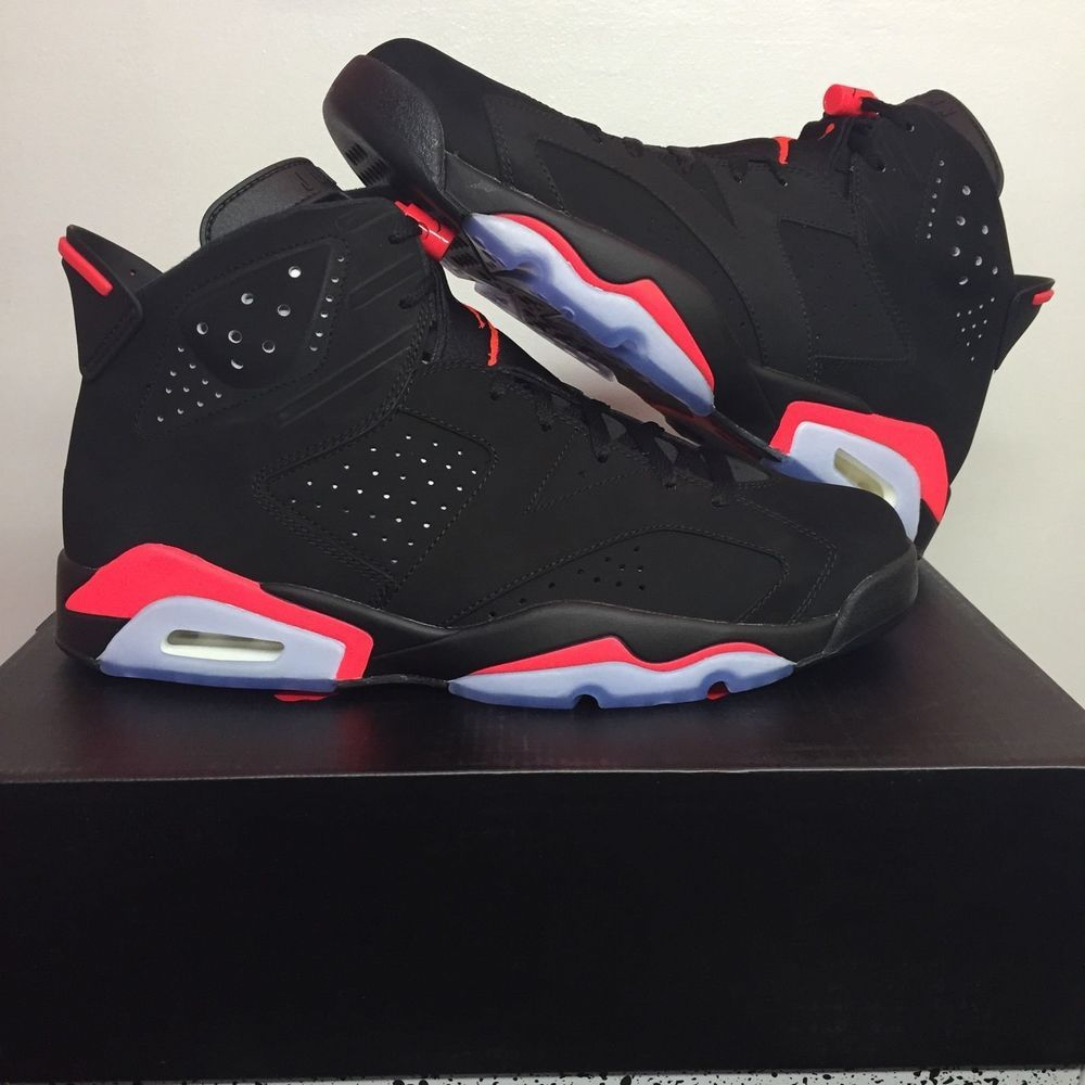 99811fea334c Air Jordan 6s Black Infrared Sneakers Size 9.5 w box and Receipt (DS)  Nike   BasketballShoes