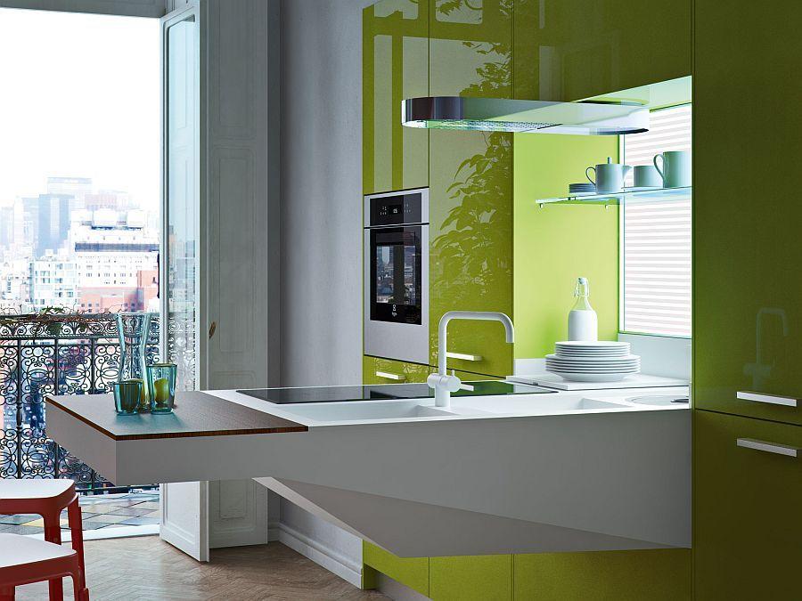 cuisine ouverte sur salon idee magnifique cuisine ouverte petit ...