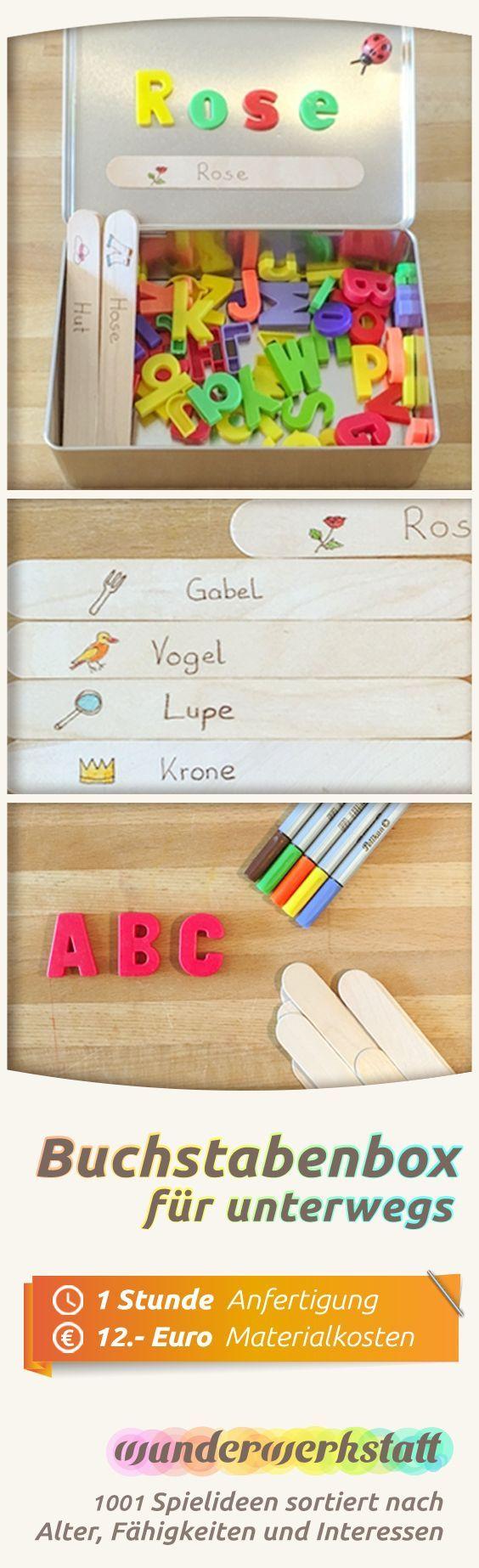 Buchstabenbox für unterwegs #learning