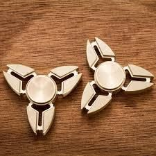 Cool Fashion Style Fidget Hand Spinner Brass Finger Toy EDC Focus ADHD Autism