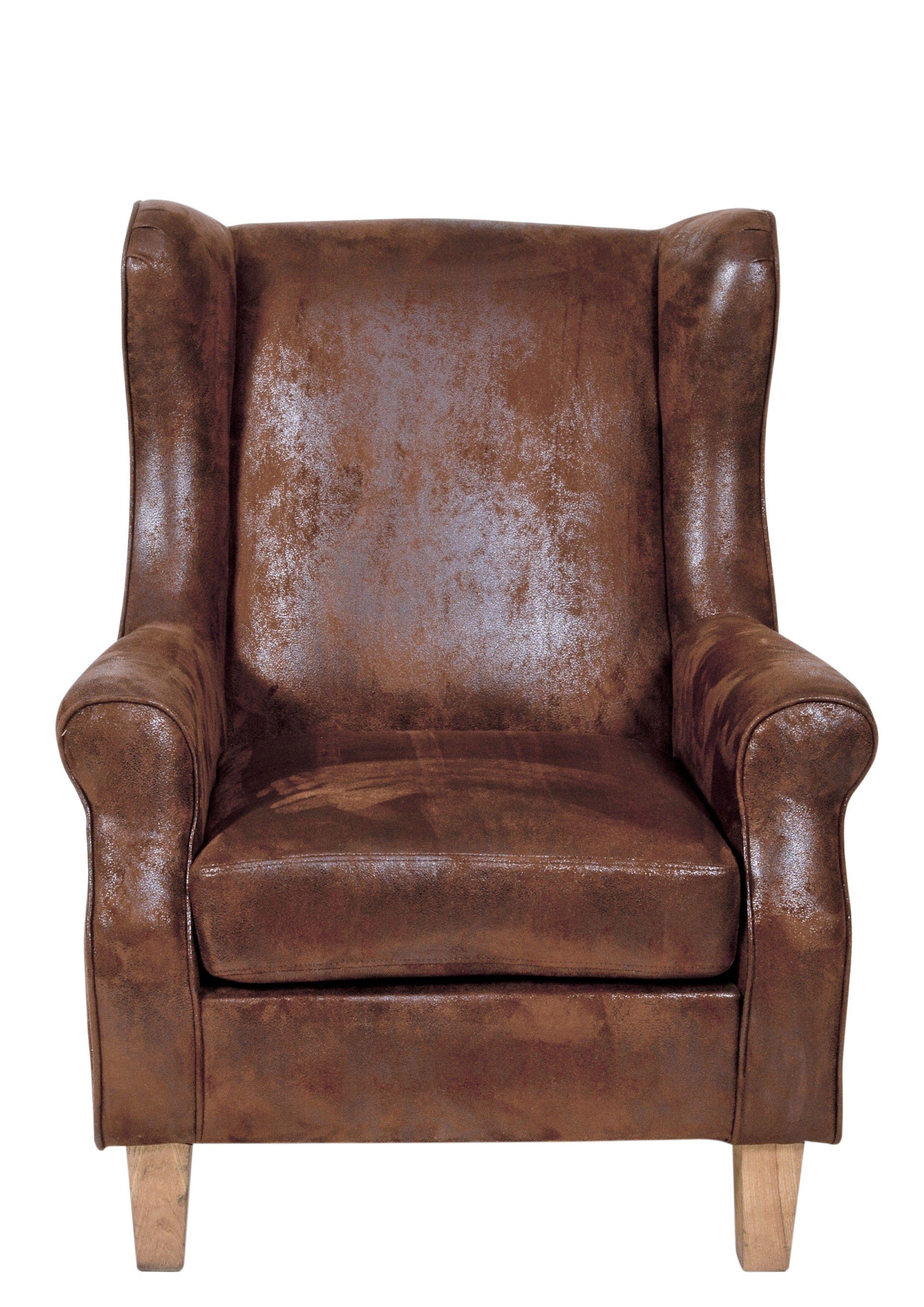 Ohrensessel Kunstleder Braun Woody 11 01230 Ohrensessel Leder Ohrensessel Sessel