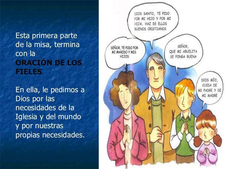 La Misa Explicada Católica Oracion De Los Fieles Catolico Cristianos