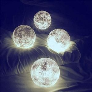 Luna Color Changing Magical Moon Lamp Wood Stand Night Light Kids Moon Light Lamp Color Changing Led