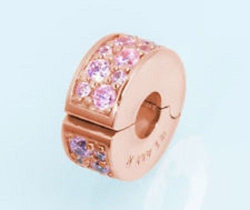 cbab8a23d Pandora silver925 #781817pcz Shining Elegance pink clip (Rose Collection)  NWOT #Pandora #Clip #clipbead #clipcharm #charm #shiningelegance #elegance  ...