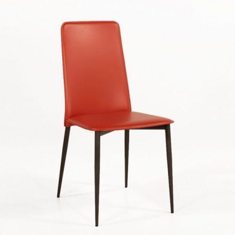 chaise moderne en croute de cuir ely