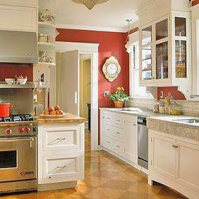 Modern Furniture: Red Kitchen Decorating Ideas 2012 ...