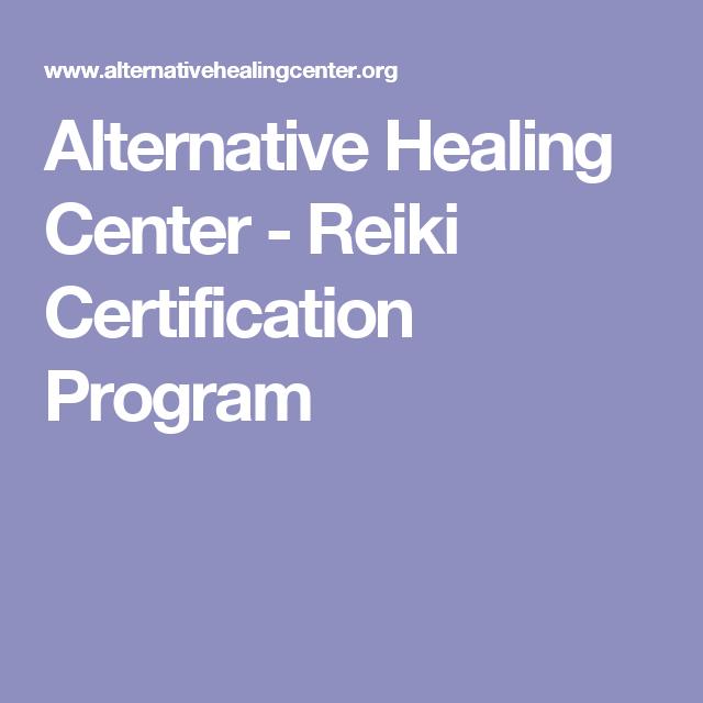 Alternative Healing Center Reiki Certification Program Lisa