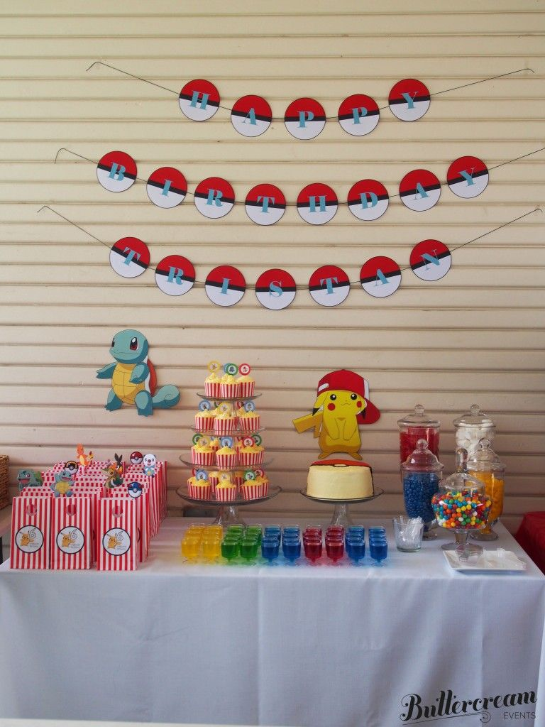 Pin By Madelyn Moore On Dessert Candy Buffets Pokemon Birthday Party Pokemon Party Decorations Pokemon Birthday