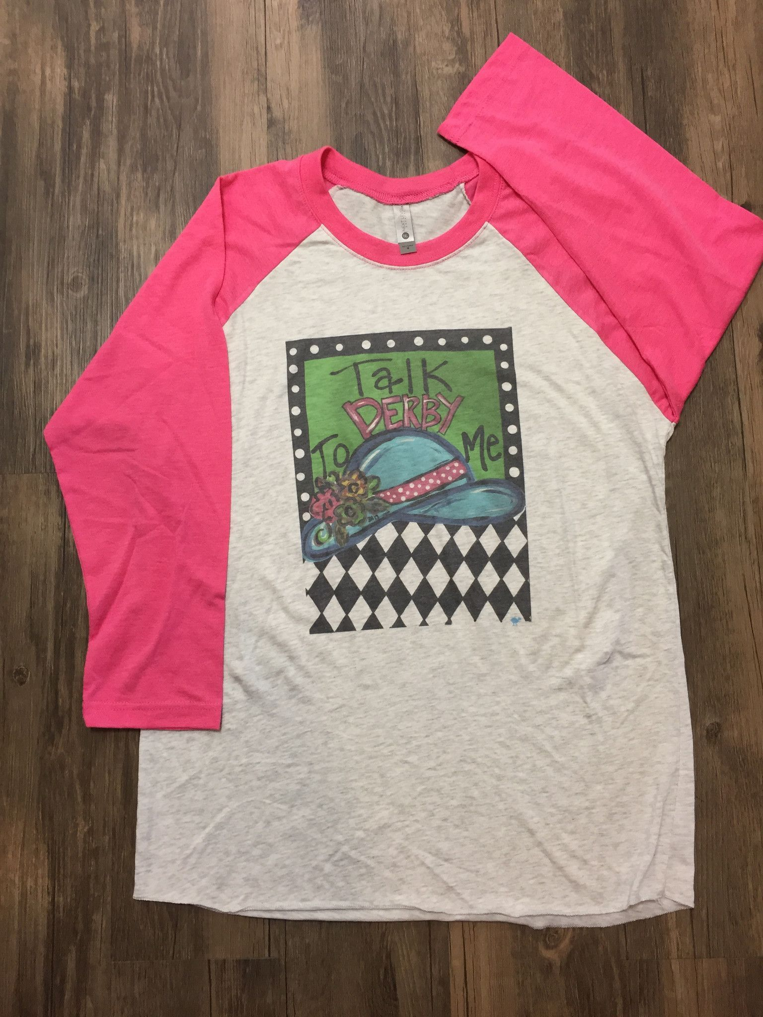Southern Roots Talk Derby To Me Raglan