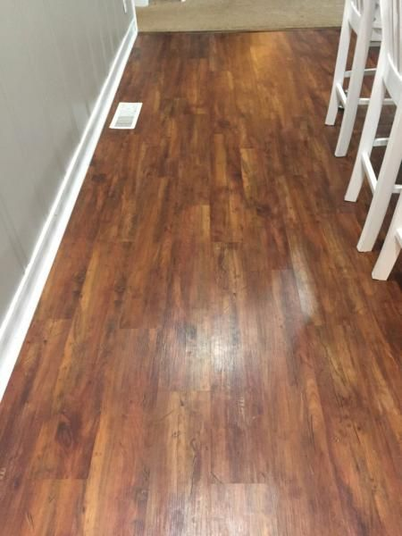 Feather Lodge Featherweight Smoked Hickory 1999 Vinyl Flooring Rustic Laminate
